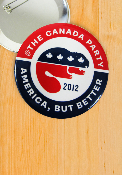 The Official Canada Party Button.