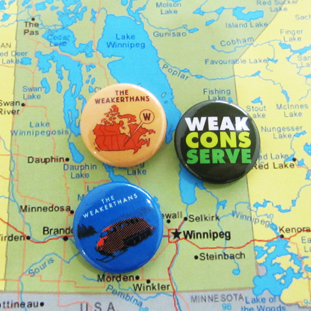 The Weakerthans Buttons