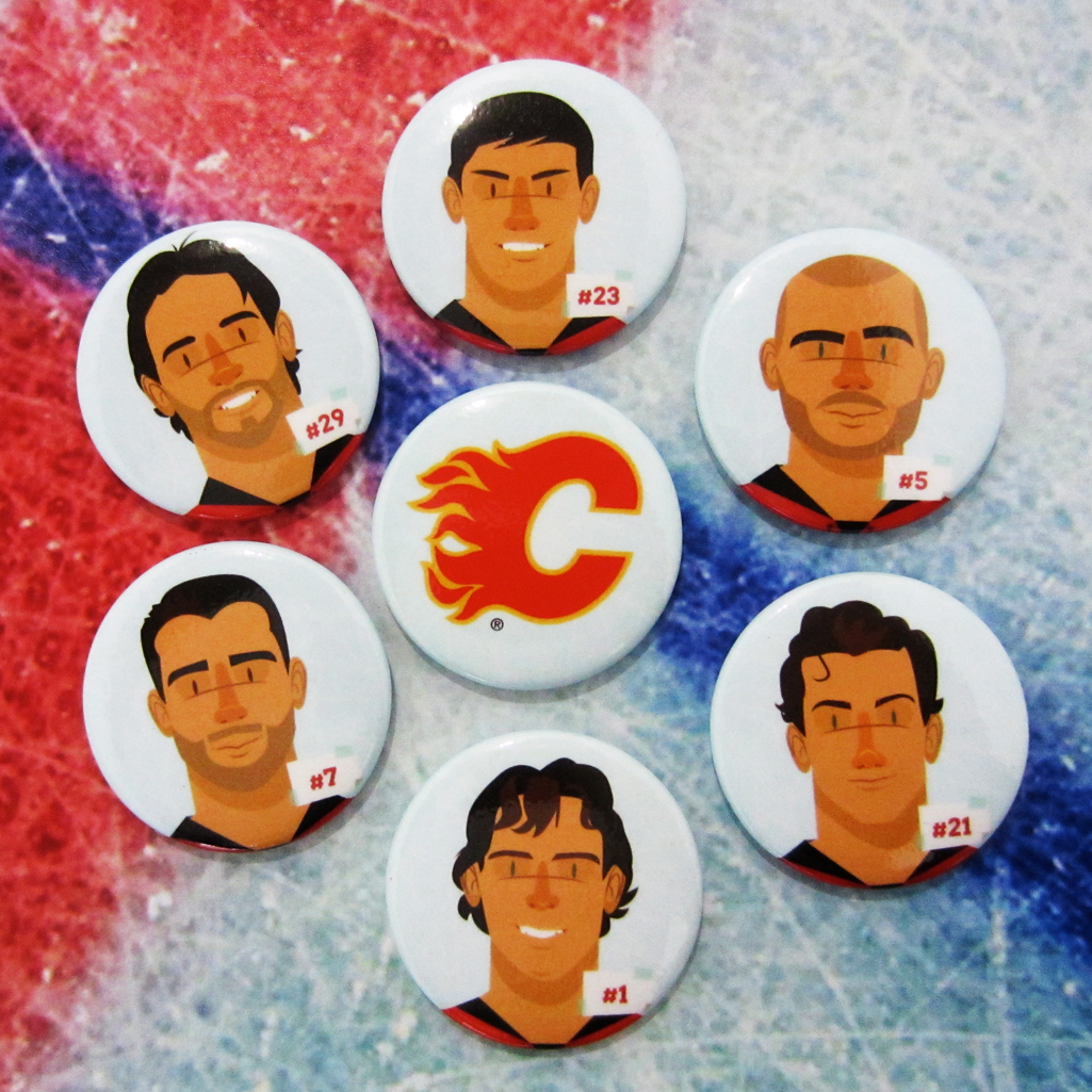 Calgary Flames Buttons