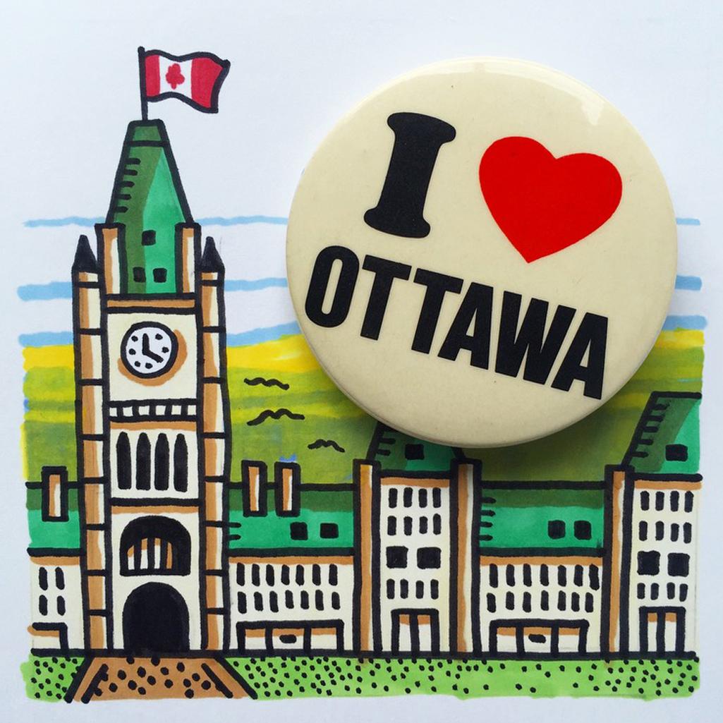 I heart Ottawa button