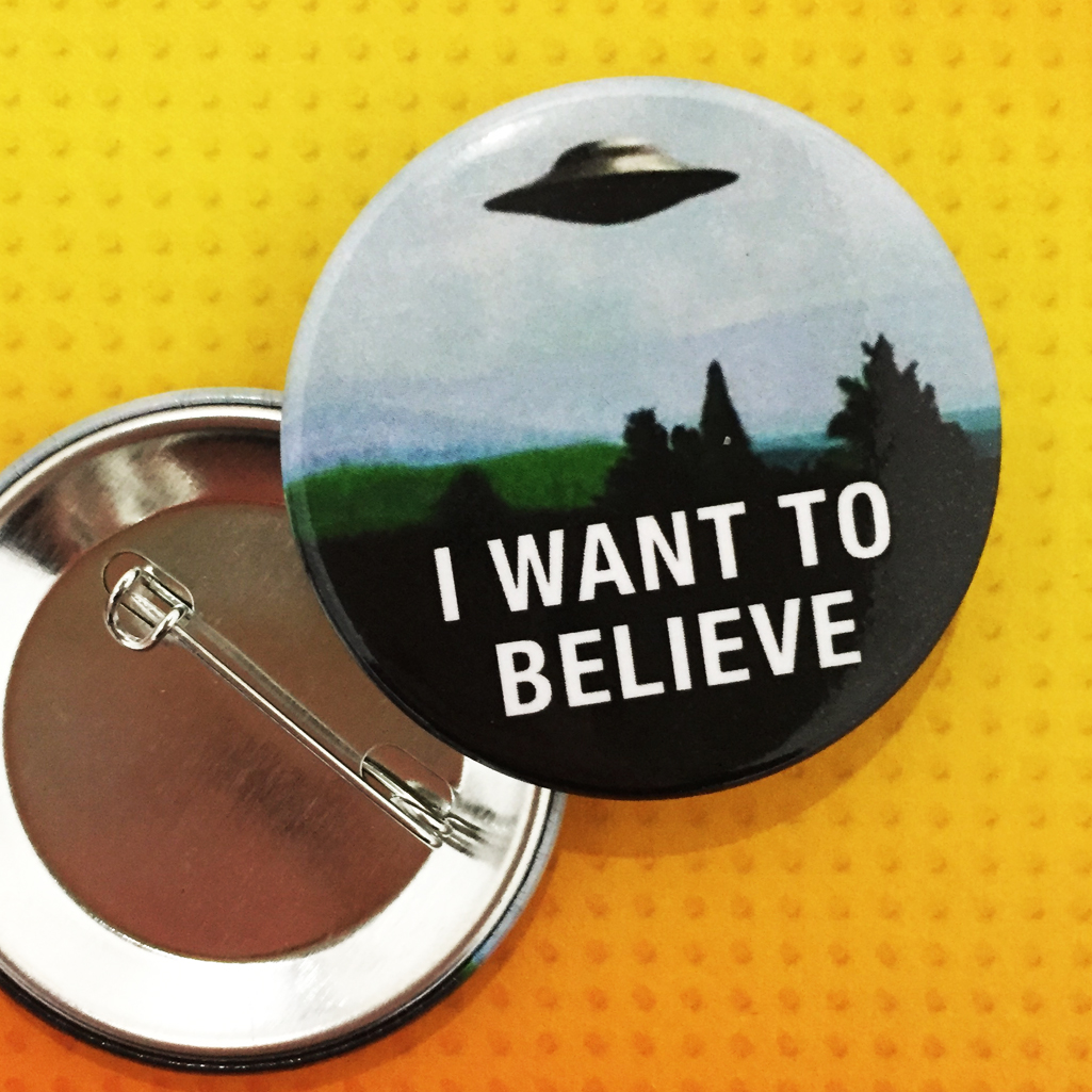 X Files button